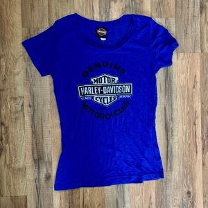 Harley Davidson women's tee with glitter
